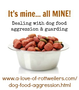 About dog food aggression and resource guarding